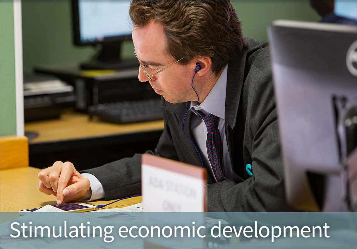 Stimulating economic development